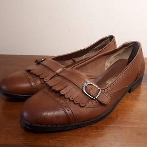 The Leather Collection Kilty Flats